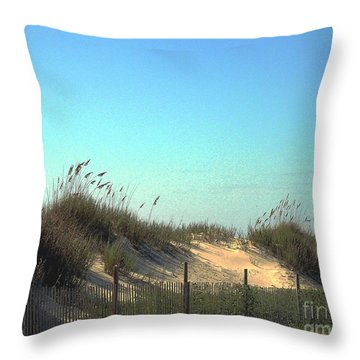 Folly Beach Sc Dunes Throw Pillow