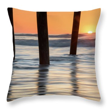 Folly Beach Sunrise Charleston South Carolina Throw Pillow by Mark VanDyke