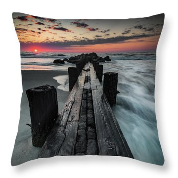 Folly Beach Tale Of Two Sides Throw Pillow