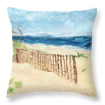 Folly Field Fence Throw Pillow