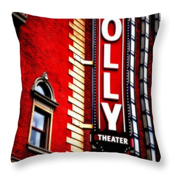 Folly Theater Throw Pillow