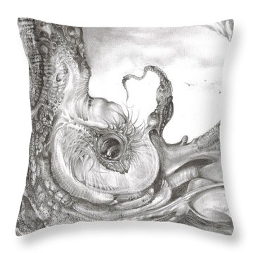 Fomorii Incubator Throw Pillow by Otto Rapp