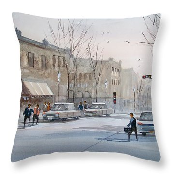 Fond Du Lac - Downtown Throw Pillow