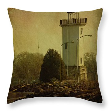 Fond Du Lac Lighthouse Throw Pillow by Joel Witmeyer