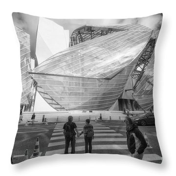 Fondation Louis Vuitton Paris I Throw Pillow