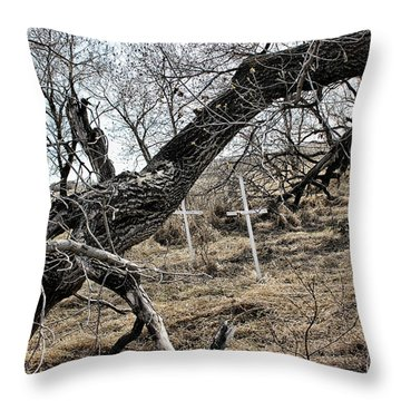 Fone Hill Cemetery  Throw Pillow