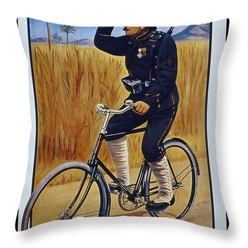 Fongers In Gebruik Bil Nederlandsche En Nederlndsch Indische Leger Vintage Cycle Poster Throw Pillow