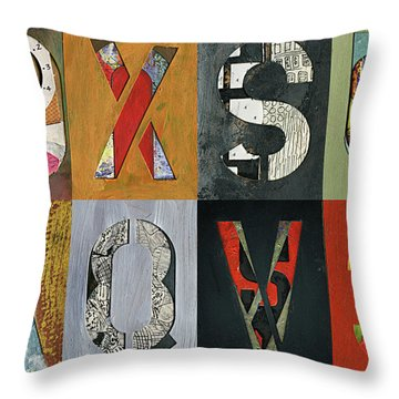 8 Number Letter Grid  Throw Pillow