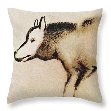 Font De Gaume Wolf Throw Pillow