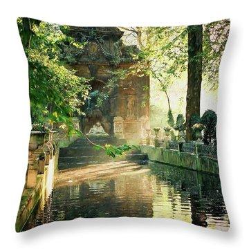 Fontaine De Medicis Throw Pillow