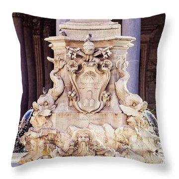 Fontana Del Pantheon - Pantheon Fountain II Throw Pillow