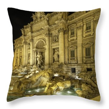 Fontana Di Trevi 1.0 Throw Pillow