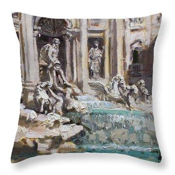 Fontana Di Trevi Rome Throw Pillow