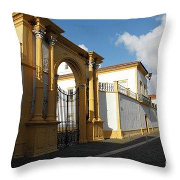 Fonte Bela Palace - Azores Throw Pillow by Gaspar Avila