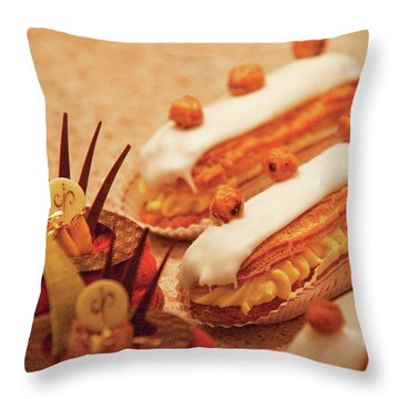 Food - Cake - Little Cakes Throw Pillow by Mike Savad
