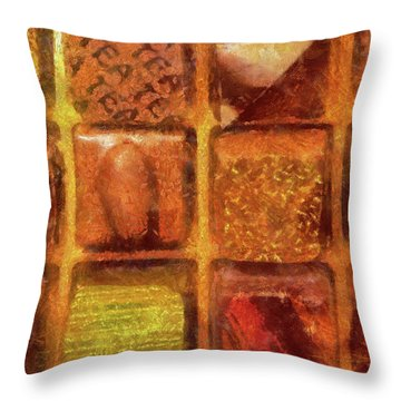 Food - Candy - Excellent Chocolates Throw Pillow by Mike Savad