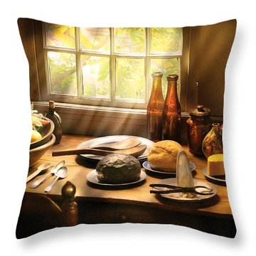 Food - Ready For Guests Throw Pillow by Mike Savad