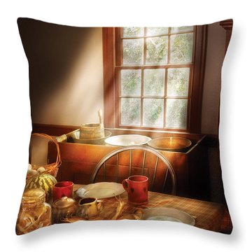 Food - Sunday Brunch Throw Pillow by Mike Savad