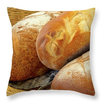 Throw Pillow featuring the photograph Food - Bread - Just Loafing Around by Mike Savad