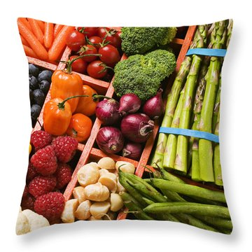 Food Compartments  Throw Pillow by Garry Gay