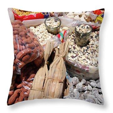 Food Market Throw Pillow by Aidan Moran