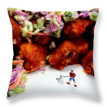 Food Temptation Throw Pillow by Paul Ge