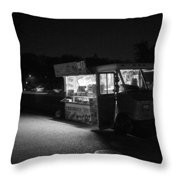 Food Truck, Late Hours Throw Pillow