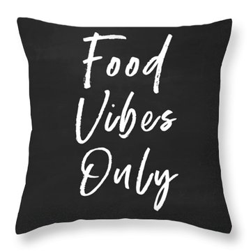 Food Vibes Only- Art By Linda Woods Throw Pillow
