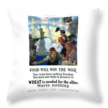 Food Will Win The War Throw Pillow by War Is Hell Store