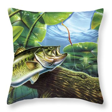 Fooled Again Bass II Throw Pillow