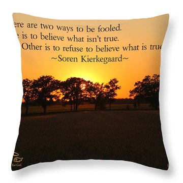 Fooled Throw Pillow