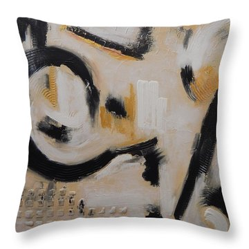 Fools Gold Throw Pillow by Sue Furrow