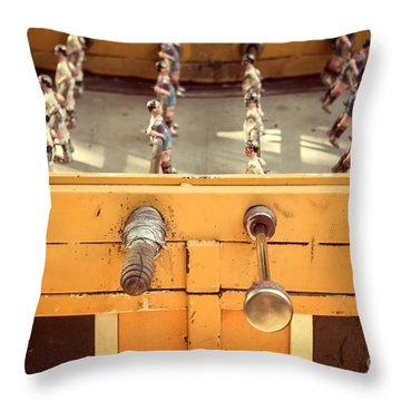 Foosball Table Throw Pillow