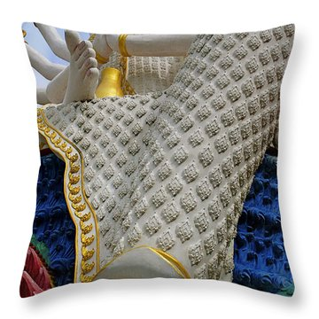 Foot Of Buddha Throw Pillow