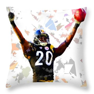 Throw Pillow featuring the painting Football 113 by Movie Poster Prints