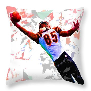 Throw Pillow featuring the painting Football 114 by Movie Poster Prints