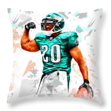 Throw Pillow featuring the painting Football 115 by Movie Poster Prints