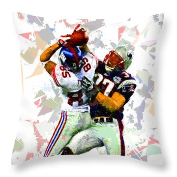 Throw Pillow featuring the painting Football 116 by Movie Poster Prints