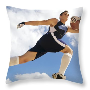 Football Athlete II Throw Pillow by Kicka Witte - Printscapes
