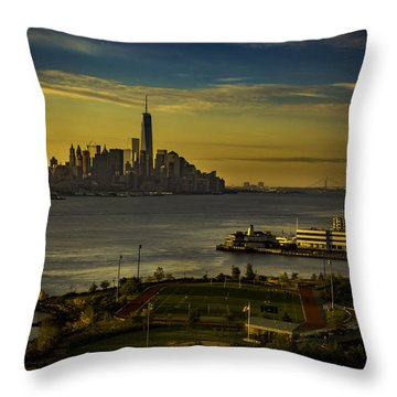 Football Field With A View Throw Pillow