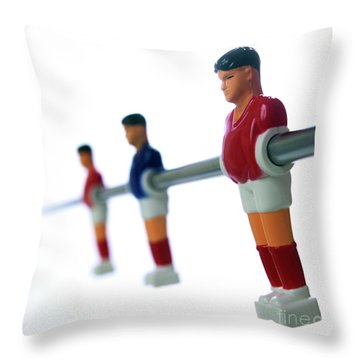 Football Figurines Throw Pillow by Bernard Jaubert