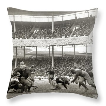 Football Game, 1916 Throw Pillow by Granger
