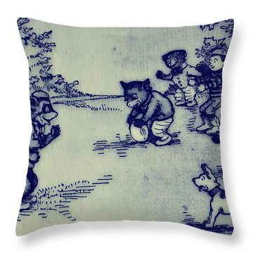 Football In The Park Throw Pillow by Bill Cannon