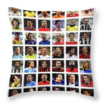 Football Legends Throw Pillow by Semih Yurdabak
