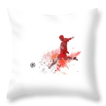 Football Player Throw Pillow