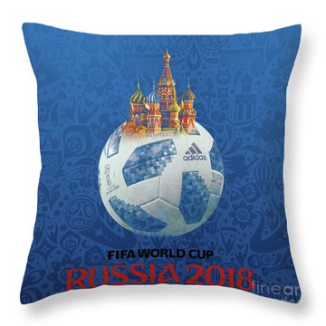 Football World Cup In Russia  Throw Pillow