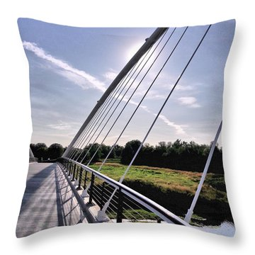 Footbridge 1 Throw Pillow