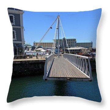 Footbridge  Throw Pillow by Aidan Moran