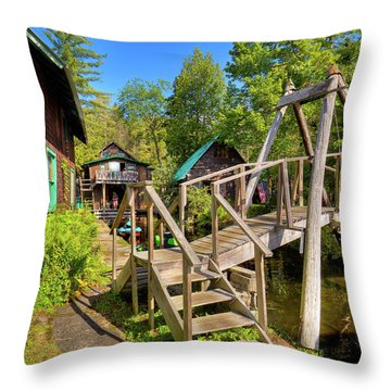 Throw Pillow featuring the photograph Footbridge At Palmer Point by David Patterson