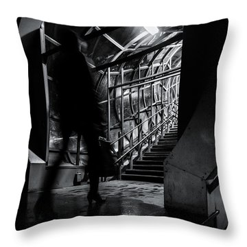 Throw Pillow featuring the photograph Footbridge Blur by John Williams